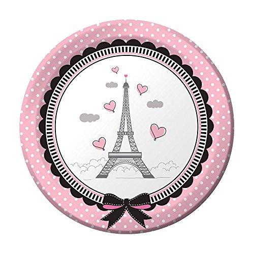 Creative Converting Party in Paris Paper Lunch Plates,