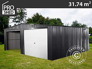 Dancover Garaje metálico Doble 6, 37x5, 13x2, 41m ProShed®, Antracita: Amazon.es: Jardín