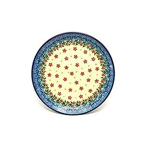 Polish Pottery Plate – Salad/Dessert (7 3/4″) – Cherry Jubilee