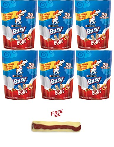 Purina Pack of 6 Busy Bone Tiny Dog Treats Tiny Chewbones with Free! Buy More, Save More!