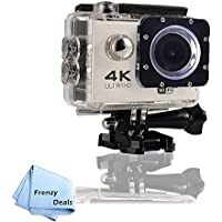 FrenzyDeals White Ultra HD Wifi Waterproof Sports Camera + FrenzyDeals Microfiber Cloth