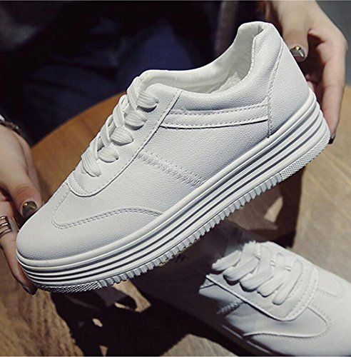 KHSKX-The Small White Shoes Girl Shoes In The Fall The Ground Of The Korean Version Of The Students Finalized Street Shoes White Shoes And That The Summer Canvas Shoes 38 FNsuh4