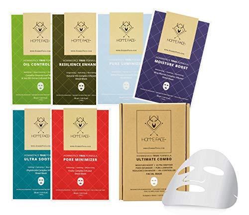 - Ultimate Combo Facial Sheet Mask Set for Men, 6 ct