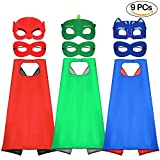 Tacobear Superhero Capes And Masks For Kids Dressing Up Cloaks For Boys And Girls As Gift For Birthday And Kids Costumes Party With 3 pack Superhero Capes And 6 pack Masks