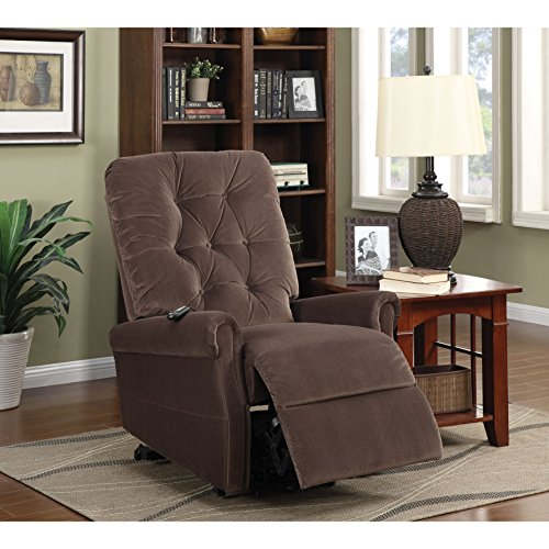 Zody Brown Velvet Power Recliner by Overstock