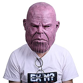 Avengers Infinity War Cosplay Thanos Mask Halloween costumes Funny and  weird latex mask Used for