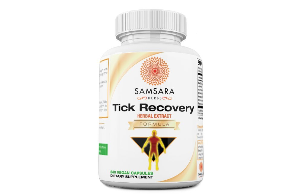 Tick Recovery Herbal Formula Capsules - Japanese Knotweed, Cat's Claw, SIDA Acuda, Houttuynia Cordata, Stevia (240 Capsules)