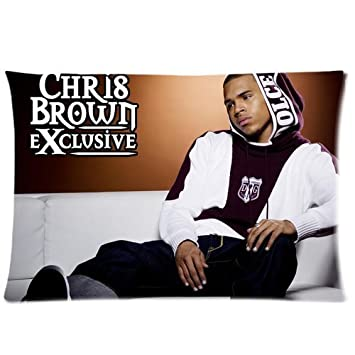 Generic Custom Chris Brown Pattern Pillow Case Cover 20*30 Two Sides