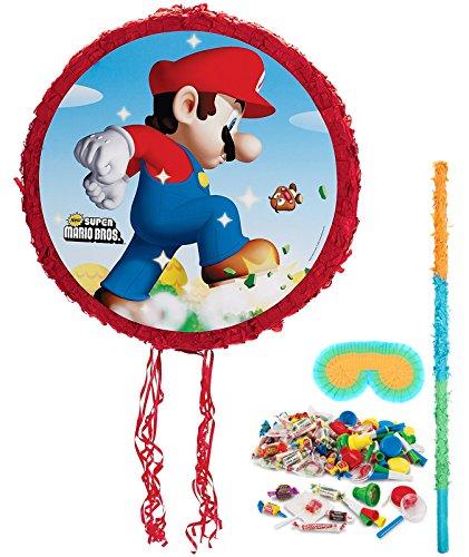 BirthdayExpress Super Mario Bros Party Supplies - Pinata Kit