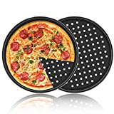 Non-Stick Pizza Pan, Segarty 2 Pack 12 inch Carbon Steel Perforated Baking Pan