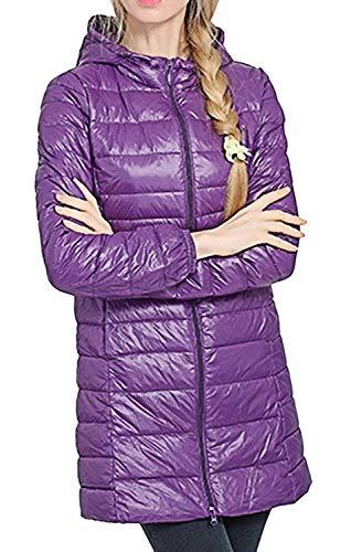 Femme Doudoune Manteau Chaud Hiver Facile Doudoune Longues Young Styles lgant Slim Fit paissir Quilting Blouson Parka Outdoor Noir Purple
