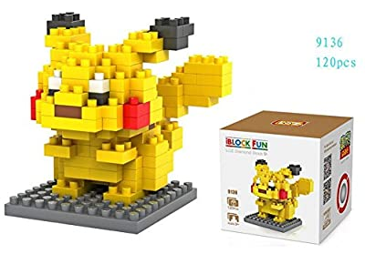LOZ 8box Diamond Block Pokemon Pikachu Squirtle Bulbasaur Eevee Charmander Charizard Gengar Mewtwo 1180pcs Parent-child Games Building Blocks Children's Educational Toys by LOZ