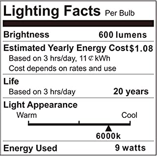 Outdoor Dusk to Dawn LED Light Bulb (No Timer Required), Automatic On/Off Light Sensor Bulb, Built-in Photocell Detector, E26 9W A19 120V 6000K for Porch, Boundary, Garage, Entrance,4 Pack by Boxlood