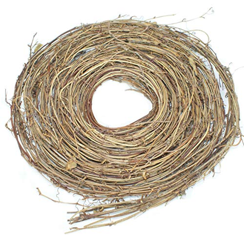 Emlyn 1 Packs of 15 Ft Roll of Dried Natural Grapevine Garland (1) (Garland Grapevine Lights With)