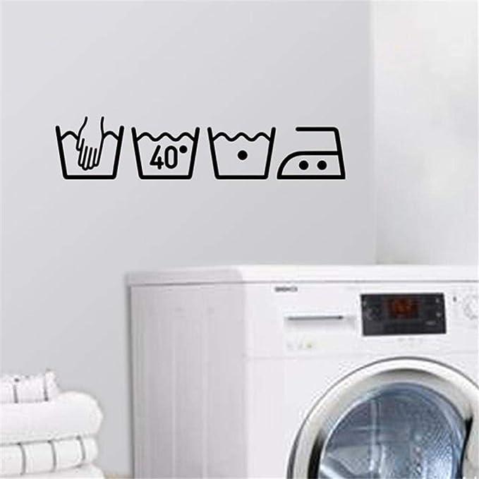 Venta caliente lavadora extraíble arte vinilo mural decoración de ...