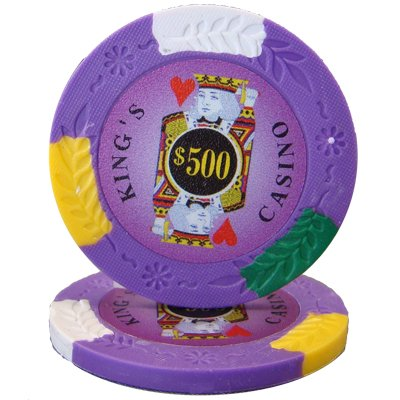 (100 $500 King's Casino 14 Gram Clay Poker Chips)