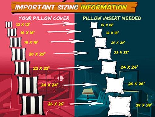 Foamily Set of 4 Premium Hypoallergenic Stuffer Pillow Insert Sham Square Form Polyester, 16'' L X 16'' W, Standard/White