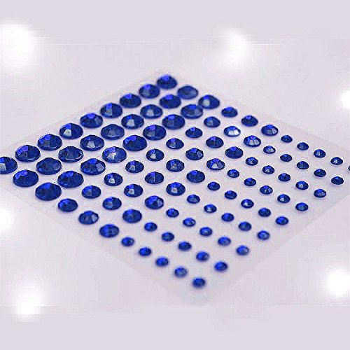 Self Rhinestones Adhesive Wholesale (Efavormart Wholesale Self Adhesive Multi-sized Crystal Diamond Rhinestone Stickers - Sapphire 594 PCS)