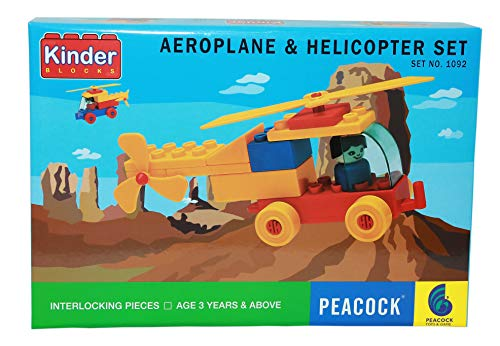 Lodestone Peacock inder Helicopter Set Building Block Game