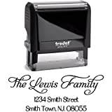 Black Ink, Custom Self Inking Return Address Stamp Personalized, Business Office Stamps, Brilliant Gift for Real Estate Clients, Newlyweds, Family, Wedding or Housewarming