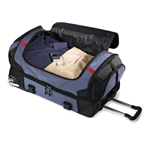 51FIalmbXeL - Samsonite Luggage Ripstop Wheeled Duffel 30, Blue