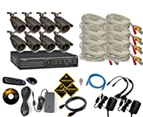Q-See QT4760 16 Channel CIF/D1 DVR Security System with 1TB Hard Drive and 8 QM6006B 600TVL Cameras