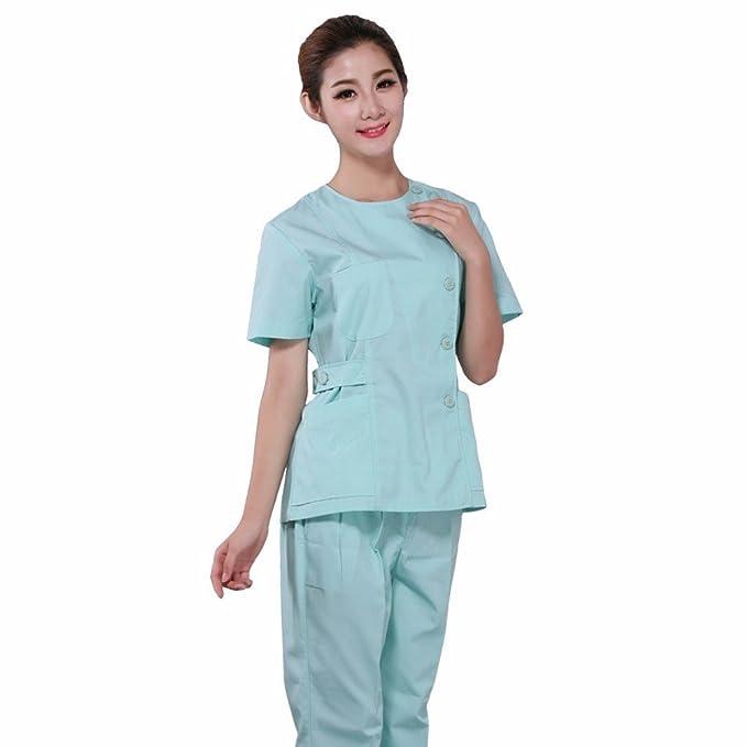 Xuanku Enfermera Enfermera Cuerpo Femenino Traje De Manga Corta De Verano Ropa De Trabajo Mono Estética Dental Medical Pharmacy: Amazon.es: Ropa y ...