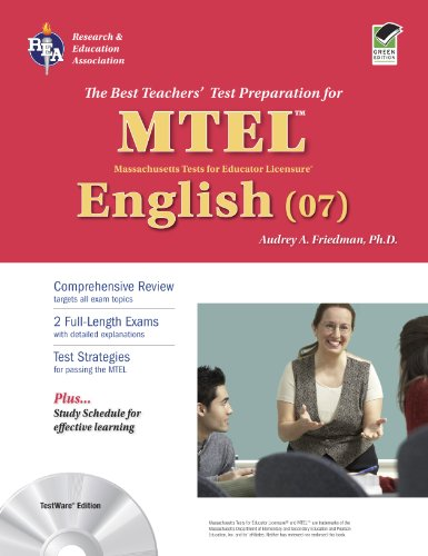 Massachusetts MTEL English (07) with CD (MTEL Teacher Certification Test Prep)