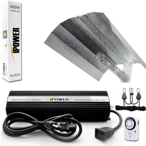 iPower 400 Watt HPS Digital Dimmable Grow Light System Kits Wing Reflector Set with (High Pressure Sodium Kits)