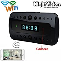 Mini 1080P WIFI HD Hidden Spy Camera Clock Surveillance Cameras Night Vision Wireless Camcorders Video Recorder Motion Detection P2P Remote View Cam