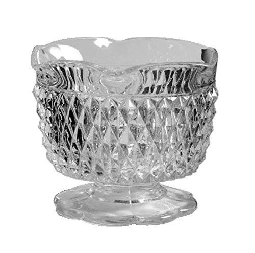 Indiana Glass Diamond Point Clear Glass (3 1/4
