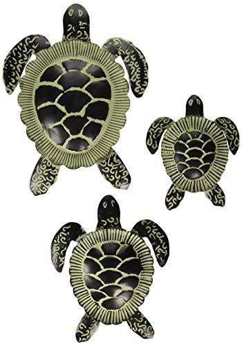 Regal 3 Bulb - Regal Art & Gift 20461 Sea Turtle Decor S/3-Vintage Wall Décor, Bronze/Sage