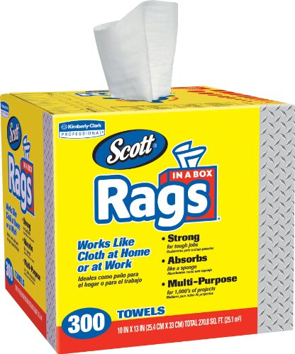 Scott Lint Free Paper Towels: Kimberly-Clark 75600 Scott Rags, White (Pack Of 300)