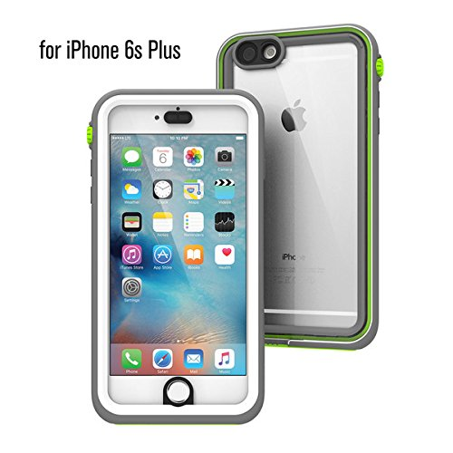 buy online 3b534 462e2 iPhone 6s Plus Waterproof Case, Shock Proof, Drop Proof by Catalyst for  Apple iPhone 6s+ with High Touch Sensitivity ID (Green Pop)