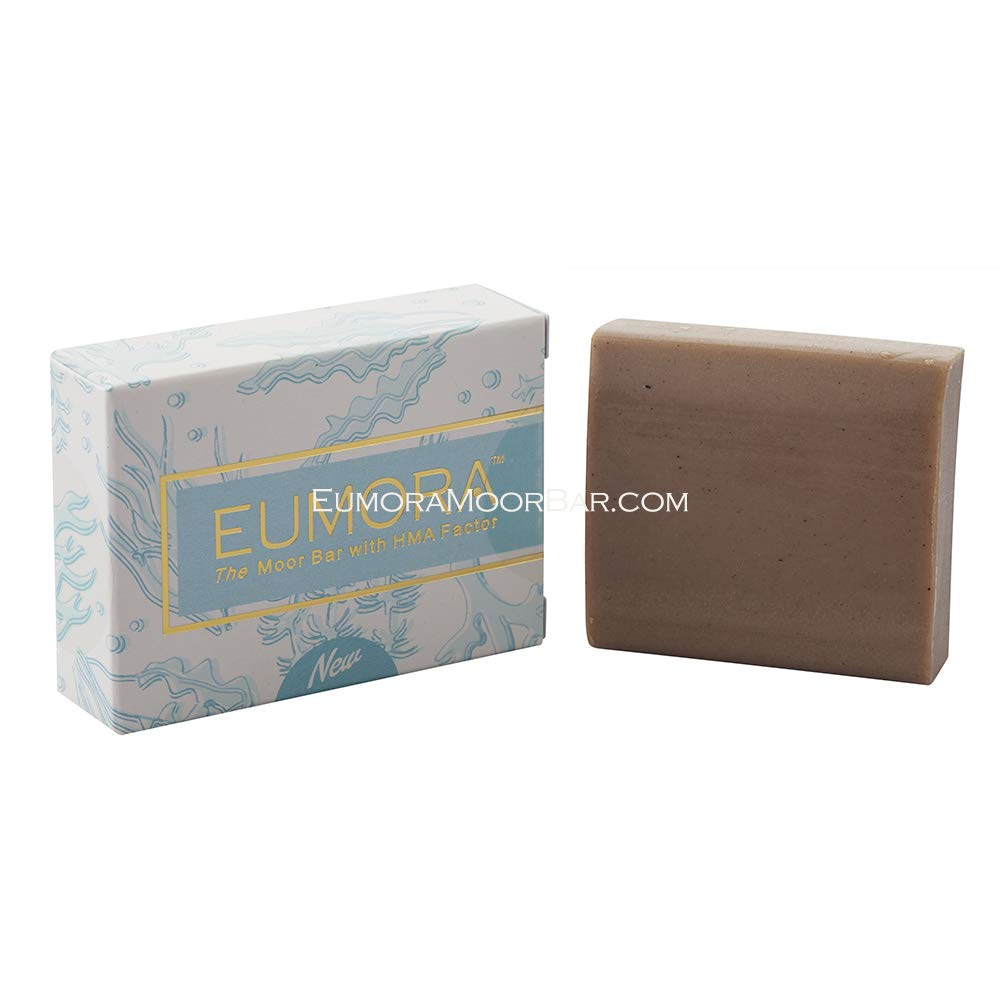Eumora Shea Butter, Facial Cleansing Moor Clay Soap. Organic Face Wash for Anti-Aging, Brightening, Lifting, Tightening, Wrinkles. All Natural SLS-Free Face Detox Cleanser for Men, Women