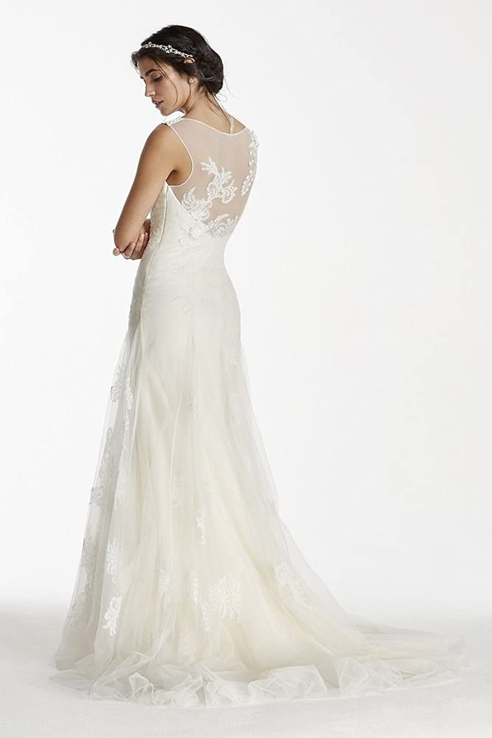 Davids Bridal Melissa Sweet Tank Tulle Wedding Dress With Beads Style MS251114 At Amazon Womens Clothing Store