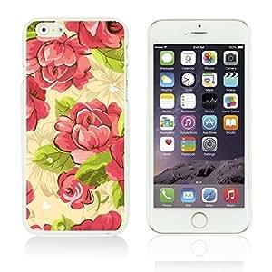OnlineBestDigitalTM - Flower Pattern Hardback Case for Apple iPhone 6 Plus (5.5 inch) Smartphone - Pink Rose Kimberly Kurzendoerfer