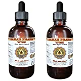 Vitex Liquid Extract, Organic Vitex (Vitex Agnus-Castus) Tincture, Herbal Supplement, Hawaii Pharm, Made in USA, 2x4 fl.oz