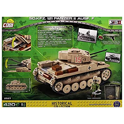 COBI Historical Collection SD.KFZ. 121 Panzer II Ausf. F, Multi (2527): Toys & Games