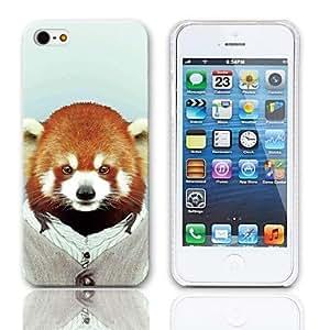 Patrón Lemur lindo estuche rígido con paquete de 3 protectores de pantalla para iPhone 5/5S