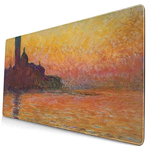 San Giorgio Maggiore at Dusk Extended Anti-Fray Cloth Gaming Mouse Pad - High-Performance Mouse Pad Optimized for Gaming Sensors