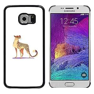 Paccase / SLIM PC / Aliminium Casa Carcasa Funda Case Cover - Leopard Wild Cat Big Spots Glasses Funny Art - Samsung Galaxy S6 EDGE SM-G925