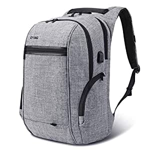 Travel Laptop BackpackAnti-Theft School Bookbag with USB Charging PortDurable Business Daypack College Computer Bag Fit 17.3 inch Laptop & NoteBook for Men/Women Outdoor, Gray