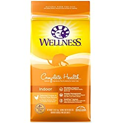 Wellness Complete Health Natural Dry Cat Food, Indoor Chicken Recipe, 2.5-Pound Bag
