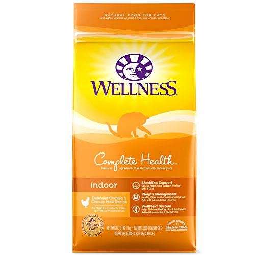 Wellness Complete Health Natural Dry Cat Food, Indoor Chicken Recipe, 2.5-Pound Bag (Best Cat Food For Hedgehogs)