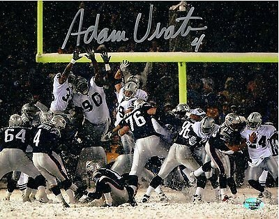 official photos 6e070 ca8b6 Adam Vinatieri New England Patriots Signed Autographed Snow ...