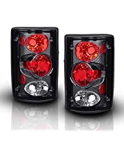 AmeriLite Black Euro Tail Lights for Ford Excursion/Econoline Van - Passenger and Driver Side