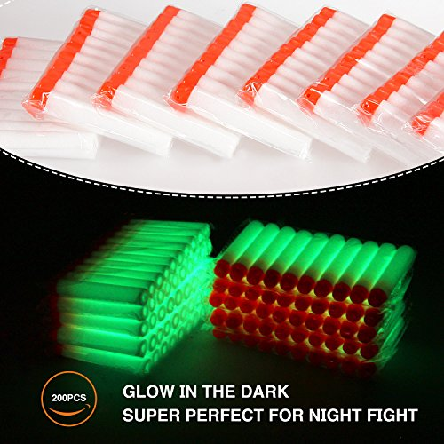 geekper-200pcs-refill-darts-for-nerf-n-strike-elite-modulus-glow-at-dark-bullets-white-kids-fun