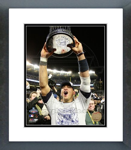Alex Rodriguez with 2009 World Series Trophy Framed Picture ()