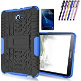 Galaxy Tab A 10.1 Case, Windrew Heavy Duty Hybrid Protective Case with Kickstand Impact Resistant For Samsung Galaxy Tab A 10.1 Inch SM-T580 SM-T585 + Screen Protector Film and Stylus Pen (Blue)